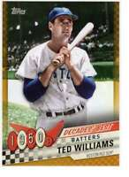 Ted Williams 2020 Topps Decades Best 5x7 Gold #DB-14 /10 Red Sox