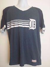 Mitchell & Ness Detroit Tigers Baseball T shirt Mens Sz Large Blue