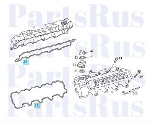 Genuine Mercedes-Benz Engine Valve Cover Gasket Right And Left