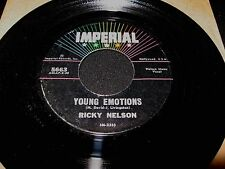 RICKY NELSON ~ YOUNG EMOTIONS / RIGHT BY MY SIDE ~ IMPERIAL ~ MINT ~ POP