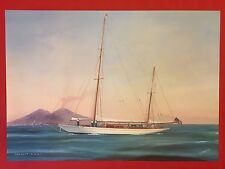 PAPALUCA - SAHARET SHIP 2 FINE ART COLOR PRINT REPLICA of ORIGINAL GOUACHE