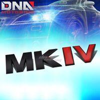 FOR VW MK IV GOLF/JETTA STICK ON 3D BLACK RED AUTO METAL EMBLEM TRIM BADGE LOGO