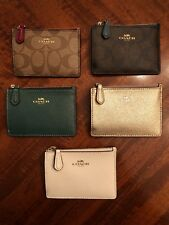 NWT COACH MINI SKINNY COIN/CREDIT CARD ID WALLET w/KEY CHAIN - 5 COLORS TO CHOOS