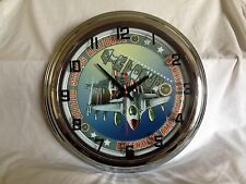 "17"" US Air Force Retro Blue Neon Clock with A/C Adaptor"