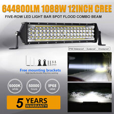"""12""""inch 1088W Cree Led Work Light Bar Flood Spot Suv Driving Lamp Offroad 4WD 10"""