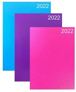 2022 Diary A4/A5 Pastel Colour Fashion Diary Week to View, Day A Page Desk Diary