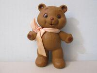 """Amtoy Teddy Bear Toy Figure Plastic 1986 Taiwan 4.5"""""""