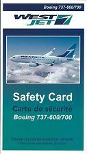 Safety Card - WestJet - B737 600 700 - 2006 (SC622)