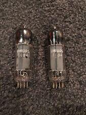 2 NOS Philips EL84 - 6BQ5 Matched Vacuum Tubes