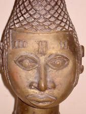 Great African Bronze Benin Queen Mother Head Nigeria 11 pounds low opening bid