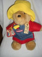 "Paddington Bear Sears Craftsman Tool 15"" Plush Stuffed Animal New W/T"