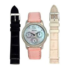 NEW Genuine Accurist Ladies Chronograph watch with 2 extra straps LS180P £100