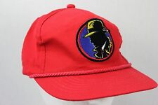 Dick Tracy Baseball Hat Red Snap Back Adjustable Embroidered Logo Disney