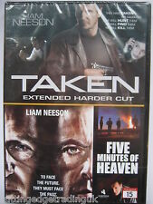 Taken & Five Minutes of Heaven (DVD, 2008) NEW SEALED (Nordic Packaging) PAL