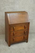 Original Early 1900's Antique Small Mission Oak Arts and Crafts Fall Front Desk