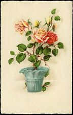 #244 Old BIRTHDAY GREETINGS Postcard - Floral - W.S S B 8245