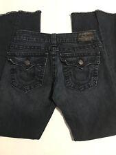 "TRUE RELIGION Black Label JOEY TWISTED SEAM Flare Jeans Size 27 Length 29"" EUC"