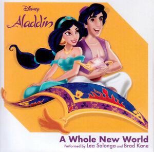 "Disney's Aladdin (1992) 'A Whole New World' Lea Salonga/Brad Kane NEW 3"" single"