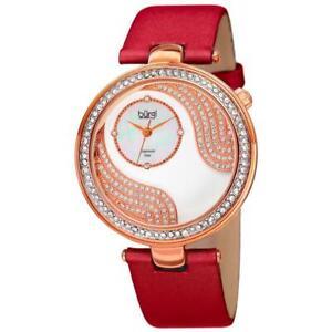 Bürgi BUR155RD Japanese Quartz Diamond and Swarovski Accented Womens Watch