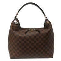 Authentic LOUIS VUITTON Duomo Hobo Shoulder Bag N41861 Damier Brown Used