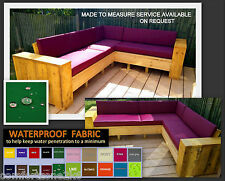 10cm Thick Waterproof Bench Seat Cushion 100cm X 55cm & Pallet Garden Furniture