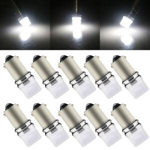 10Pcs T11 BA9S 2835 3SMD T4W 182 3886 H6W LED Interior Dome Map Lights Bulbs 12V