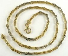 """CHAIN 20"""" Breathtaking 3.5mm Link 14k Solid 2Tone Gold 28.31g ITALY Crafted"""