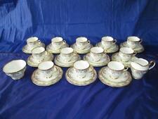 38pc impresionante China muy dorada Floral Salisbury juego de té (calidad 1st