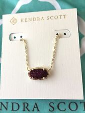 Kendra Scott Elisa Plum Drusy Pendant Necklace NWT