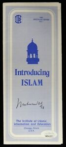 Muhammad Ali Boxer Signed Introducing Islam Brochure Pamphlet JSA Authenticated