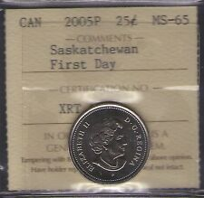 2005P Canada Saskatchewan 25-cent First Day ICCS MS-65