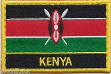 Kenya Flag Embroidered Patch Badge - Sew or Iron on