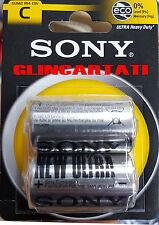 24 Mezza Torcia Sony 20 Batterie Pile C SUM2 R14 Ultra 12 BLISTER DA 2 BAT 1.5 V