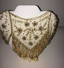 Vintage Gold Beaded Antique Collar Necklace