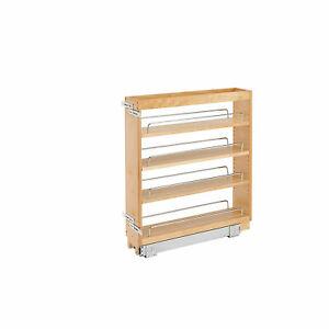 "Rev-A-Shelf 448-BC-5C 5"" Pullout Wood Kitchen Cabinet Organizer Rack (Open Box)"