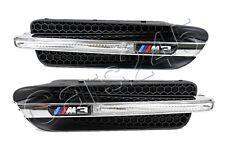 Genuine Front Wing Trim Grills with Emblems PAIR BMW M3 E90 Sedan 2007-2011