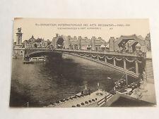 CPSM PARIS 1925 expo internationale des arts decoratifs pont alexandre III