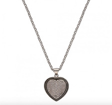 Montana Silversmiths Vintage Charm Quilted Heart Necklace - Silver NC2232