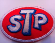 """STP EMBROIDERED  Iron on patch  2.75"""" X 2"""" RACING, OIL, SPEEDWAY"""
