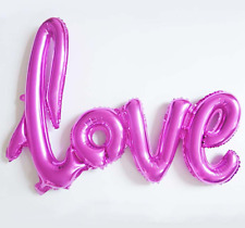 NEW Pink Script Love Balloon -Self-inflating wedding anniversary Valentines Day