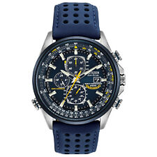 Citizen Eco Drive Blue Angle World Chrono AT Blue Dial Men's Watch AT8020-03L
