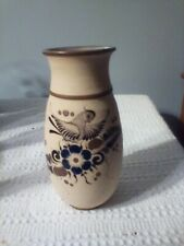 tonala mexican pottery vase signed gardiel 8 in by 4 in