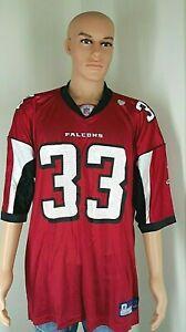 Reebok Atlanta Falcons Michael Turner 33 Jersey NFL Field Equipment Red Men XXL