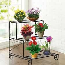 New 3 Tier Metal Plant Stand Decor Planter Holder Flower Pot Shelf Rack Display