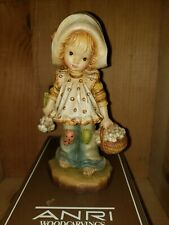 """Anri Sarah Kay Figurine """"Flowers For You"""" 7"""" Signed Mahlknecht and Josef w/ Box"""