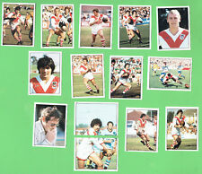 1983 ST GEORGE  DRAGONS  SCANLENS RUGBY LEAGUE STICKERS