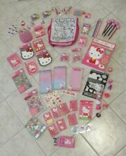 Hello Kitty Lot Stickers Note Pads Coloring Book Pencils Bag Party Pack Favors