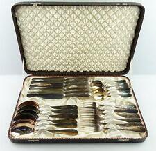 48 teiliges Smalcalda Besteck in 90/45er Silberauflage mit 2 Koffern e695