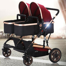 Twins Baby Carriage Foldable Travel System Stroller Buggy Double Seat Pushchair