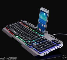 USB Wired Illuminated Colorful LED Backlight Multimedia Pro PC Gaming Keyboard
